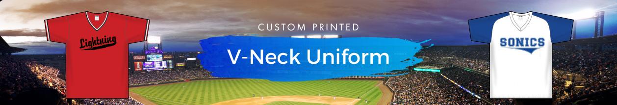 V-Neck Team Baseball Jerseys