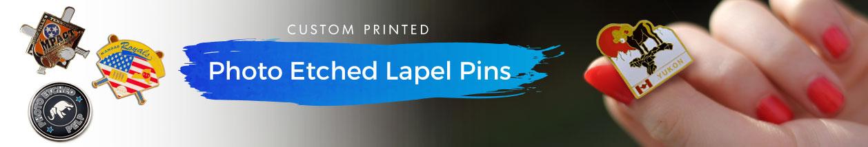 Photo Etched Lapel Pins