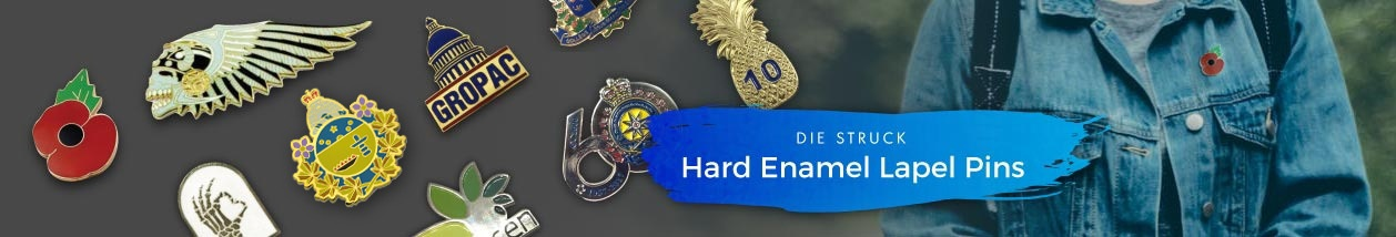 Hard Enamel Die Struck Lapel Pins
