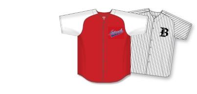 Full-Button Team Baseball Jerseys