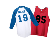 Names + Numbers on Jerseys