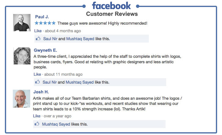 Facebook Customer Reviews