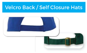 Velcro and Self Closure Backs