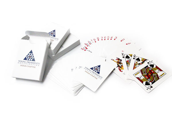 Playing Cards with Logo Printed
