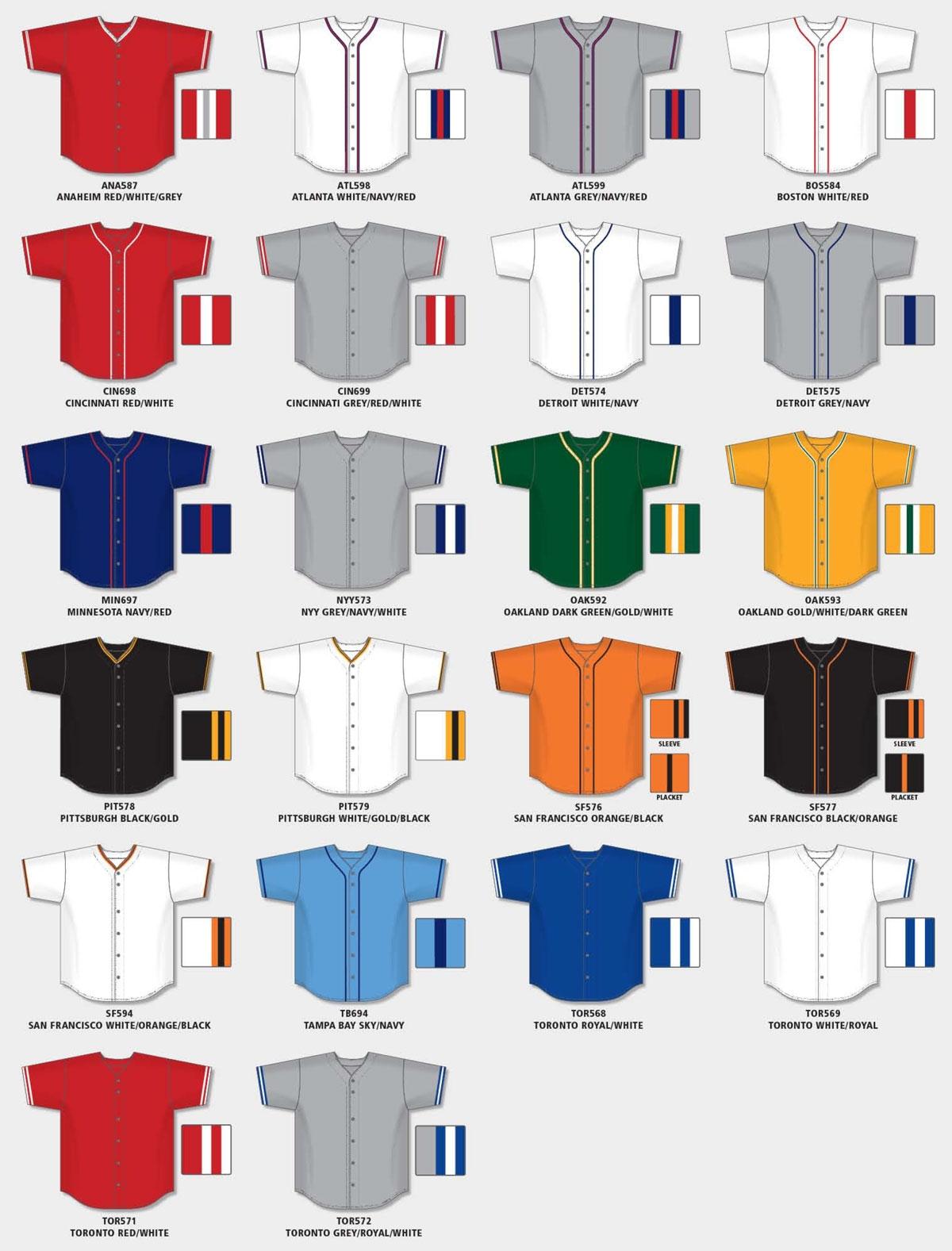BA5500 - Pro Style Baseball Jersey