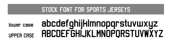 Stock Artik Jersey Font