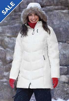 Ladies' Boreal Down Jacket with Faux Fur Trim