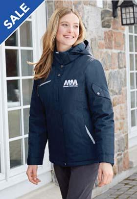 Ladies' Rivet Textured Twill Insulated Jacket