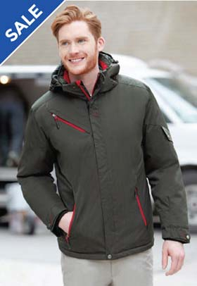Men's Rivet Textured Twill Insulated Jacket