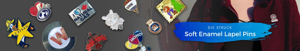 Soft Enamel Die Struck Lapel Pins
