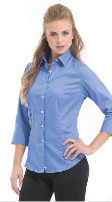 Van Heusen Ladies' Dress Twill 3/4 Sleeve Shirt