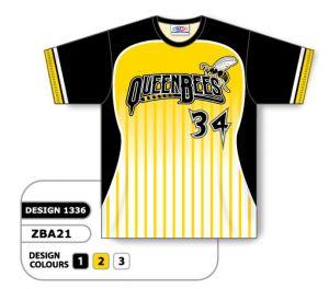 Crew-Neck Sublimated Ladies Baseball Jersey (Design 1336 Style ZBA21)