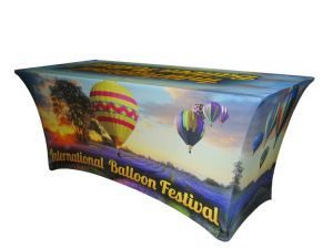 8' Full Colour Form-Fitting Spandex Table Cover