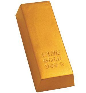 GK264 Gold Bar Stress Reliever Ball