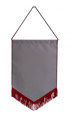 Bottom Fringe Rectangular Banner with Triangular Bottom (10