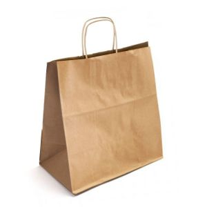 16 x 6 x 18.5 Natural Kraft Paper Shopper Bag