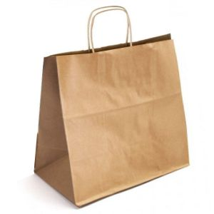 18 x 7 x 19 Natural Kraft Paper Shopper Bag