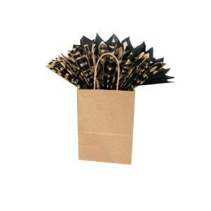 8 x 4.5 x 10 Natural Kraft Paper Shopper Bag