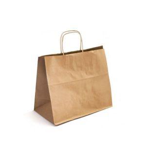 16 x 6 x 12.5 Natural Kraft Paper Shopper Bag
