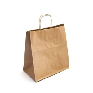 13 x 6 x 15.25 Natural Kraft Paper Shopper Bag