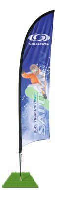 9' Shark Fin Wind Flag Kit - Single Sided