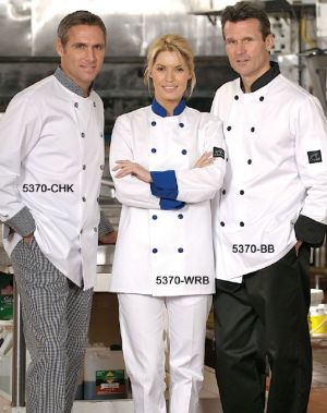 Chef Coat with Contrast Trim