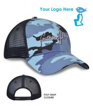 Fashion Camo Mesh Snapback Cap