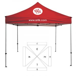 10' Square Tent - 7 Imprint Locations