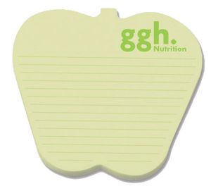 Post-it Custom Printed Die-Cut Notes Apple, 25 Sheets/1 Colour Print