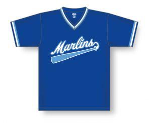 V-Neck Dryflex Baseball Jersey with Sleeve Trim