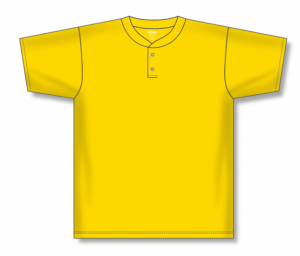 Two-Button Dryflex Solid Baseball Jerseys
