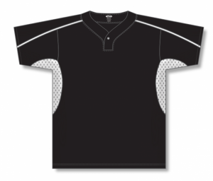 One Button Dryflex Baseball Jerseys with Half Side Inserts