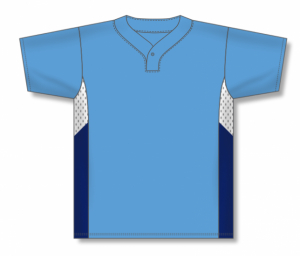 One Button Dryflex Baseball Jerseys with Mesh Top Side Inserts