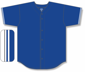 Pro Style Full-Button Baseball Jerseys with Braid Trim