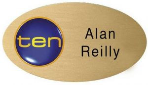 Full Colour Oval Metal Name Badge (2.5