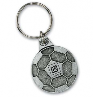 2D Solid Pewter Key Chain