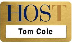 Screen Printed Metal Plated Name Badge (2 7/8