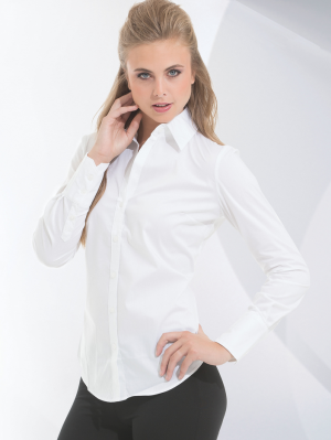 Calvin Klein Ladies' Long Sleeves Stretch Shirt