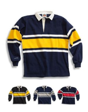 Traditional Cotton Collegiate Stripe Rugby Shirts