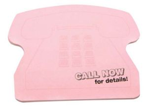 Post-it Custom Printed Die-Cut Notes Telephone, 25 Sheets/1 Colour Print