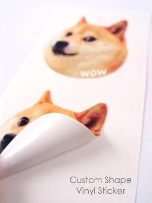 Up to 9 sq inch Custom Shape Vinyl Sticker