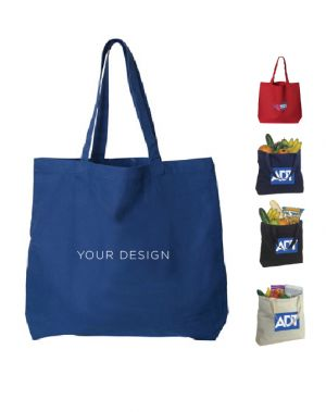 Large Cotton Canvas Tote Bag