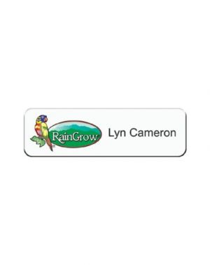 Full Colour Plastic Name Badge (2.5