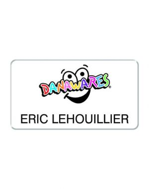 Full Colour Plastic Name Badge (2.75