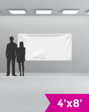 4' x 8' 13 oz Vinyl Single-Sided Banner