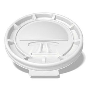 Flat Tear-Back White Hot Cup Lid for 8oz
