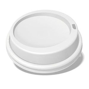 White Dome Sipper Hot Cup Lid for 10oz-20oz