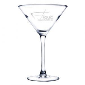 7.25oz Martini Glass with Deep Etch Decoration