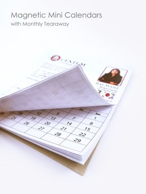 Magnetic Mini Calendars with Monthly Tearaway
