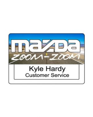 Full Colour Print - Window Plastic Name Badge (2.63
